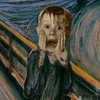 ladymirth: mccauley culkin's scream-face superimposed on The Scream (home alone scream)