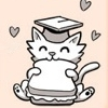nenya_kanadka: cartoon kitten in academic cap (@ Professor Internet)