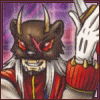 talec: Masked and horned, Astamon brandishes a knife. (Digimon: Astamon)