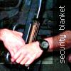 """kerravonsen: Jack O'Neill holding a gun: """"security blanket"""" (Jack-gun, gun)"""