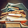 vorpal: Stock image of a stack of books (books)