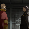 lizbee: Lin and Tenzin face each other, looking tense (LoK: Lin and Tenzin)