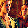 kisahawklin: Hephaistion looking lovingly at Alexander (Alexander: Alex/Heph balcony)