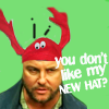 ext_23294: Gil Grissom from CSI wearing a stupid hat. ([csi] - what this hat is awesome)