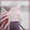 duskpeterson: Boy holding American flag (July 4th)