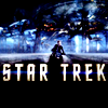 "skieswideopen: Kirk on his bike, over the text ""Star Trek"" (Star Trek)"