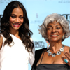 helens78: Zoe Saldana and Nichelle Nichols at the BET awards ceremony. (st: 2 uhuras close)