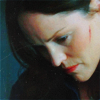 rhivolution: A blue-tinted image of Sara Sidle from CSI, looking downwards with a cut on her cheek. (the dreams in which I'm dying: Sara Sidl)