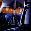 sharpest_asp: A comic illustration of Vader's helmet reflected (Star Wars: Vader Reflected)