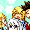 antreegonist: Mithos: surprise/derp/party(Genis/Colette/Lloyd) (kittens!  inspired by kittens!)