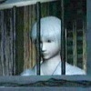 estirose: White-haired boy behind bars in scene from Fatal Frame II. (Itsuki behind bars - Fatal Frame II)