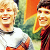 paraka: Merlin and Arthur laughing (M-M/A-*laughs*)
