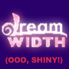 dw_nifty: Split, glowing Dreamwidth logo with (Ooo, shiny!) underneath (shiny)