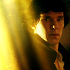 fastidious: Sherlock contrasted against a viel of light (Sherlock - Cascading Light)