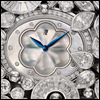 skywardprodigal: watch face of enameled flowers with diamonds (bling-montre carnet de bal)