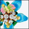 skywardprodigal: blue laquered rign (bling-fleur de paix)