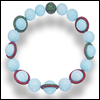 skywardprodigal: turquoise bracelet with nearly 800 carats of turquiose beads set with pave emeralds and rubies  (bling-comme je veux)