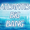 "atlantisbigbang: The words ""Atlantis Big Bang"" on white superimposed onto Atlantis under the shield. (Atlantis Big Bang)"