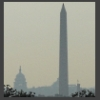sharpest_asp: Capitol in distance, Washington Monument in foreground, all in fog (Scenic: Patriotism and Politics)
