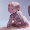 annuin: tattoo covered baby (tattoo baby)