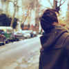 elyse: (sho: NY street from back)