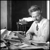 trotsky: an older Trotsky at his desk (old)