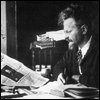 trotsky: a younger Trotsky at his desk (young)