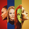 monanotlisa: four women of star trek in a four-colour icon (too many dicks - trek)