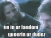 were_lemur: Aragorn and Boromir sharing a meaningful look (im in ur fandum queering ur dudez)