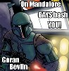 were_lemur: Mandalorian in blue armor (on Mandalore gays bash YOU!)