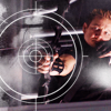 ymfaery: Hawkeye aiming with overlaid crosshairs (Avengers:  Hawkeye + crosshairs)