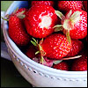 angryoldhag: A bowl of red strawberries. (strawberries)