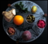 indeliblesasha: A beautiful seder plate, including an orange. (Misc - Chag sameach)