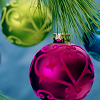 azurite: (xmas - hanging pink & green ornaments)