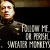 ariestess: BSG and Bring It On crossover love! (adama's sweater monkeys -- from madeline)