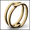 skywardprodigal: simple gold ring of linked bands (bling-yoandme)