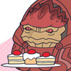 arise: (mass effect ♥ wrex brought food)