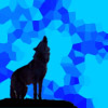 baronjanus: Wolf shadow over blue crystals (0 wolf blue grief)