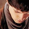 cupbearer: Merlin looks down, grey scarf (Merlin looks down)