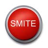 queenbarwench: big red button labelled 'smite' (emote: smite)
