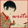 lilacsigil: Japanese girl writing (Write)