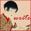 lilacsigil: Japanese girl writing (Write)