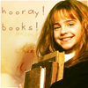 "lilacsigil: Hermionie Granger, ""Hooray Books"" (hermione)"