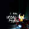 "daphnie_1: Iron Man with the text ""I am Iron Man"" (Marvel 
