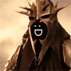 outlineofash: A ringwraith from the LOTR movies with a smiley face superimposed over it. (Smile - Smiley Nazgul)