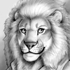 petercat: Sketch of PeterCat as a lion (Synnabar Sketch)