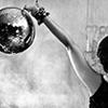 sarken: rocker girl holding a disco ball ([misc] hardcore superstar)