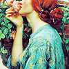 kalachi: girl smelling roses (Default)