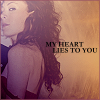 "strina: melissa auf der maur looking arch caption ""my heart lies to you"" (madm - heart lies)"