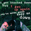 "strina: rodney mckay caption ""i get knocked down but i get up again you're never gonna keep me down"" (rodney - get up)"